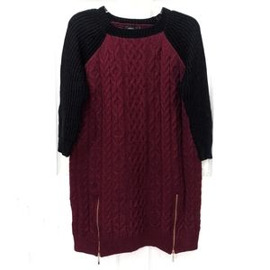 LF Millau Side Zip Cable Knit Oversized Sweater S